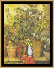 Flower Pots - Cezanne | Crafting | Cross-Stitch | Wall Hangings