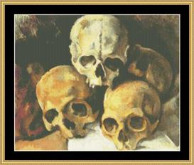pyramid of skulls - cezanne