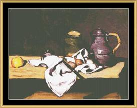 Still Life With Kettle - Cezanne | Crafting | Cross-Stitch | Wall Hangings
