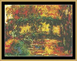 The Japanese Bridge - Monet | Crafting | Cross-Stitch | Wall Hangings