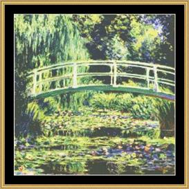 White Water Liles - Monet | Crafting | Cross-Stitch | Wall Hangings