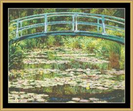 Japanese Foot Bridge Ii - Monet | Crafting | Cross-Stitch | Wall Hangings