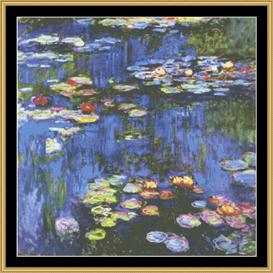 Water Lilies - Monet | Crafting | Cross-Stitch | Wall Hangings
