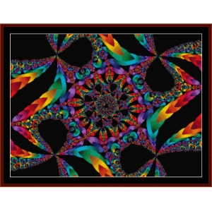 fractal 181 cross stitch pattern by cross stitch collectibles