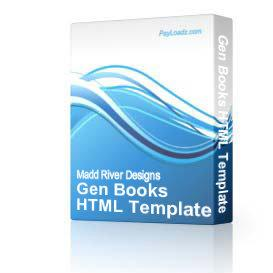 gen books html template