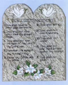 Ten Commandments Picture | Crafting | Cross-Stitch | Other