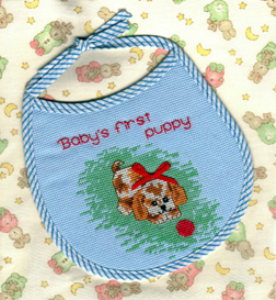 Babys First Puppy Bib | Crafting | Cross-Stitch | Other