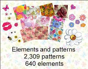 paint shop pro elements & patterns pack 1 made by sophia delve