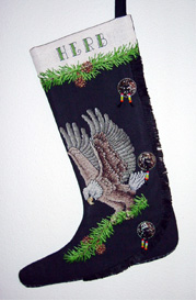 Eagle Moccasin Stocking | Crafting | Cross-Stitch | Christmas