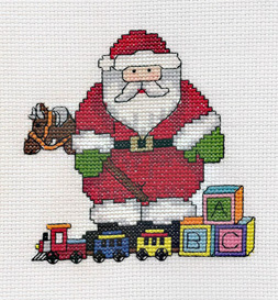 Santa with Toys Picture | Crafting | Cross-Stitch | Other