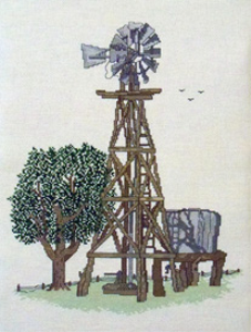 Country Windmill Picture | Crafting | Cross-Stitch | Other