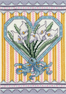 Victorian Calla Lillies Picture | Crafting | Cross-Stitch | Floral