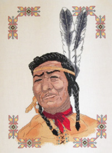 Native American Picture | Crafting | Cross-Stitch | Other