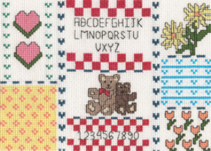 Teddy Bear Sampler Picture | Crafting | Cross-Stitch | Other