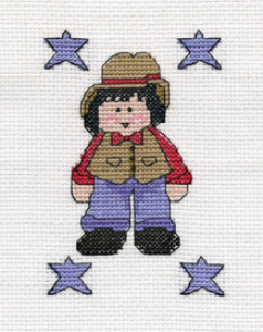Denim Boy Picture | Crafting | Cross-Stitch | Other