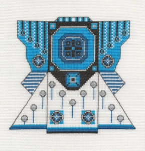 Electric Blue Kimono Picture | Crafting | Cross-Stitch | Other