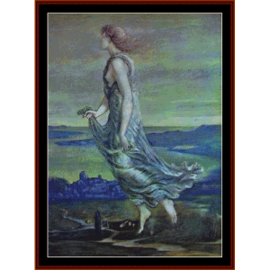 Hesperus - The Evening Star - Burne-Jones cross stitch pattern by Cross Stitch Collectibles | Crafting | Cross-Stitch | Wall Hangings