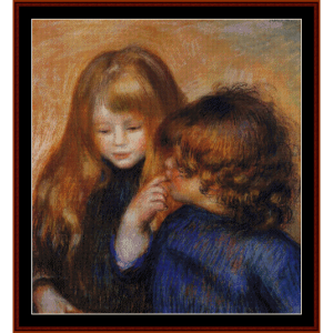 Young Gypsy Girls - Renoir cross stitch pattern by Cross Stitch Collectibles | Crafting | Cross-Stitch | Wall Hangings