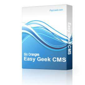 Easy Geek CMS | eBooks | Internet