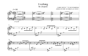 everlong solo piano arrangement