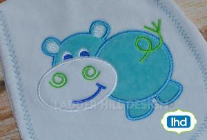 aa001 hippo applique