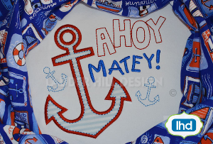 w013 ahoy matey anchor applique