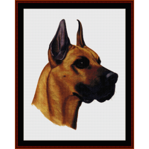 Great Dane - Robert J. May cross stitch pattern by Cross Stitch Collectibles | Crafting | Cross-Stitch | Wall Hangings