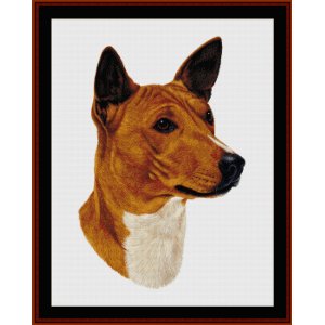 Basenji - Robert J. May cross stitch pattern by Cross Stitch Collectibles | Crafting | Cross-Stitch | Wall Hangings