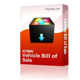 Vehicle Bill Of Sale | Other Files | Documents and Forms