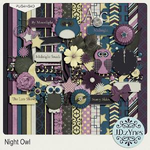 night owl digital scrapbooking kit