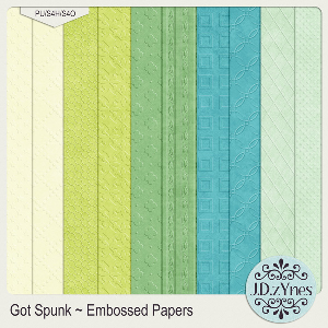 got spunk embossed papers