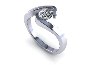 3d cad file solitaire diamond ring
