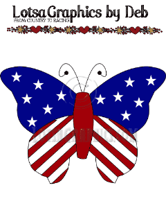 patriotic butterfly clipart download