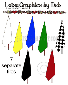 7 pc. racing flags 2 set clipart download