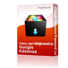 Google Adsense Keyword List | eBooks | Business and Money