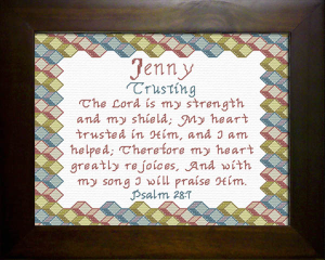 Name Blessings - Jenny | Crafting | Cross-Stitch | Religious