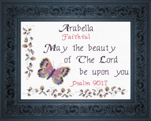 Name Blessings -  Arabella | Crafting | Cross-Stitch | Religious