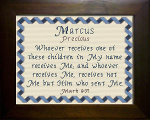 Name Blessings -  Marcus | Crafting | Cross-Stitch | Religious