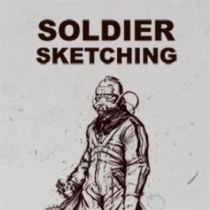 soldier sketching