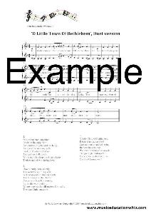o little town of bethlehem unaccompanied vocal duet version