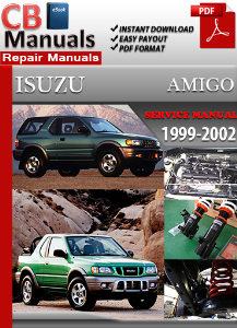 Isuzu Amigo 1999-2002 Service Repair Manual | eBooks | Automotive