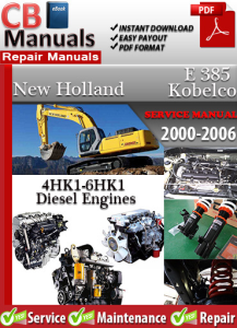new holland kobelco e385 2000-2006 service repair manual