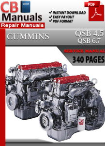 Cummins QSB 4.5 Engine Service Repair Manual | eBooks | Automotive