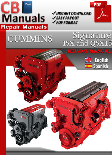 Cummins Signature Isx And Qsx15 Service Repair Manual