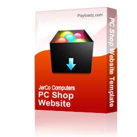 PC Shop Website Template | Other Files | Patterns and Templates