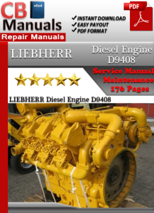 LIEBHERR Diesel Engine D9408 Service Repair Manual | eBooks | Automotive