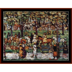 Central Park, 1908 - M. Prendergast cross stitch pattern by Cross Stitch Collectibles | Crafting | Cross-Stitch | Wall Hangings