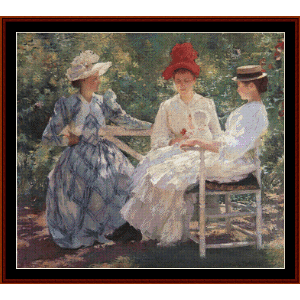 three sisters, 1890 - edmund c. tarbell cross stitch pattern by cross stitch collectibles