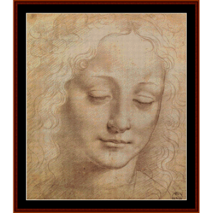 Female Head - DaVinci cross stitch pattern by Cross Stitch Collectibles | Crafting | Cross-Stitch | Wall Hangings