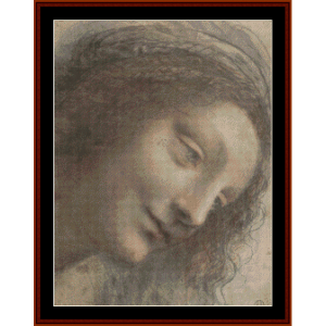 Head of the Virgin - DaVinci cross stitch pattern by Cross Stitch Collectibles | Crafting | Cross-Stitch | Wall Hangings